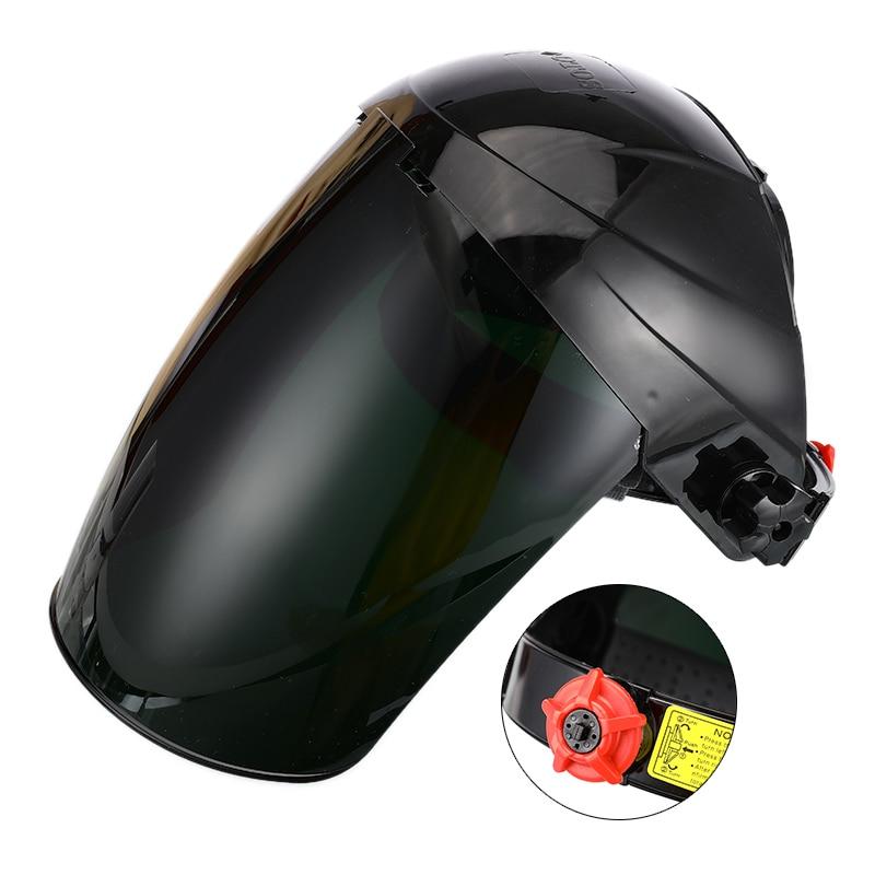Safety Mask Transparent Lens Anti-UV Anti-shock Welding Helmet Face Shield Solder Mask Welding Mask Eye Protect Shield