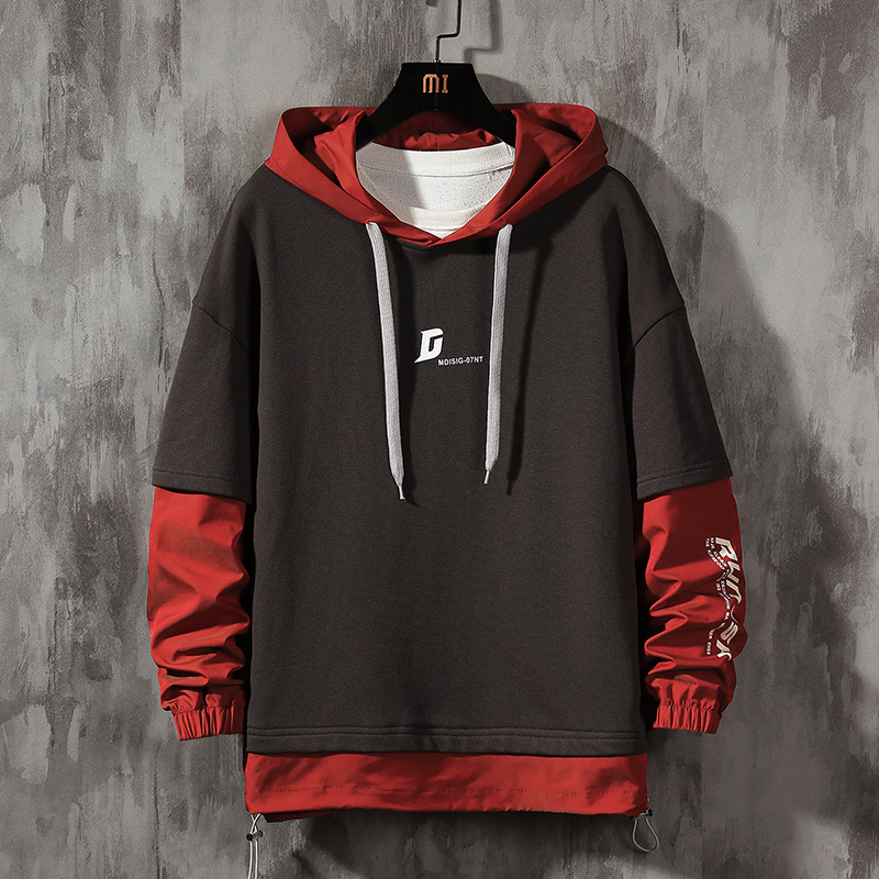Men's Hoodies 2020 Spring Autumn Long-sleeve Fashion Trend Hooded Sweatshirts Thin Printed Hoodies Plus Size M-4XL Drop Shipping