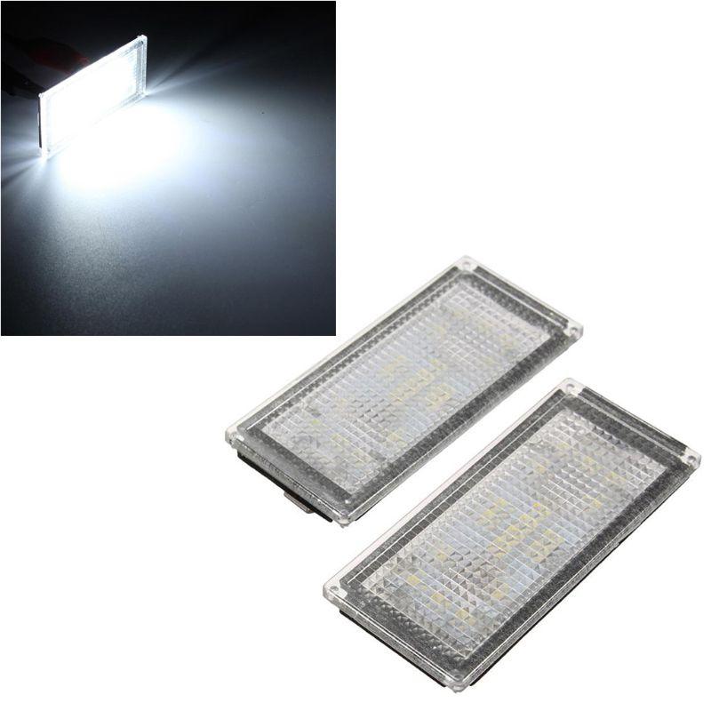 2Pcs Error Free 18 LED Number License Plate Light For BMW E66 E65 7-Series 735i White