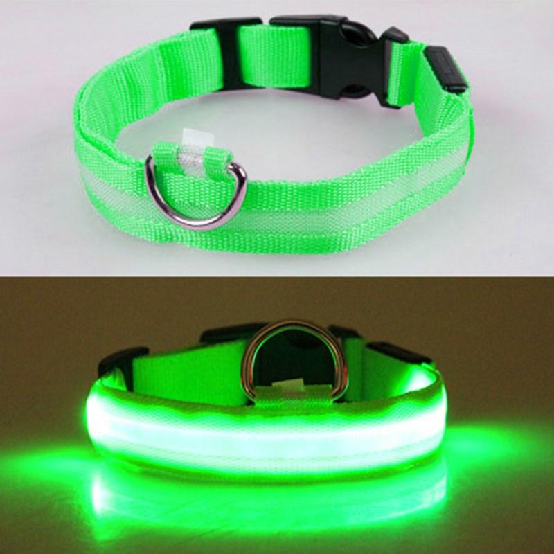 Shining Pet Dog Collar LED Light Pet Collar Flashing with Battery Safe Adjustable Anti Lost,Avoid Car Accident Night Decoration|Collars|   - AliExpress