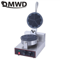 DMWD Commercial Electric Heart Shape Waffle Maker Mould Non-stick Eggs Cake Oven Muffin Baking Machine Pan Lattice Sandwich Iron