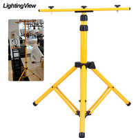 Telescopic Work Light Tripod Floodlight Tripod Stand Holder for LED Flood Light Spotlight Construction Site Work Lamp Brancket