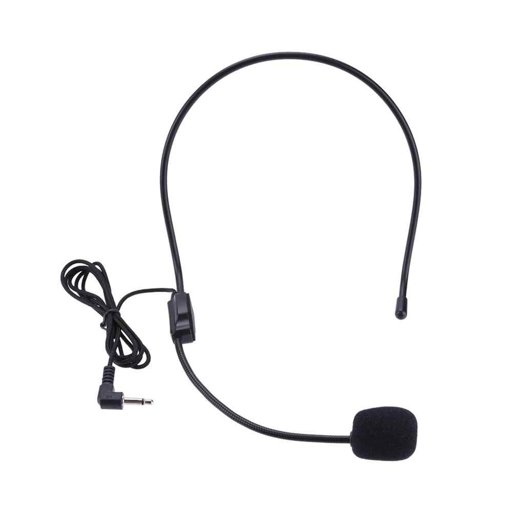 ポータブルワイヤレスヘッドセットマイク有線 3.5 ミリメートルジャックコンデンサーマイクユニバーサルためのためツアーガイド教育講義