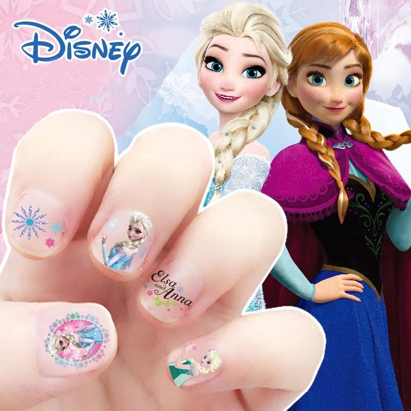 5pcs/set Frozen Elsa And Anna Makeup Toys Girls Nail Stickers Disney Princess Kids Earrings Sticker 3D Sticker For Children Toy