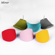 Wholesale Bright Colors Geometric Earrings For Woman Simple Minimalist Earrings Orange Black Pink Blue Red Green Gifts For Women 3 pilot svfm 20ef science calligraphy soft brush pink red orange black blue green writing supplies