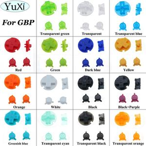 Multi Color AB Buttons Keyboards for Gameboy Pocket For Gameboy On Off for GBP D Pads Power Buttons Green Yellow Red blue(China)