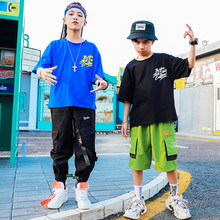 American Clothing Hip Hop Clothes For Girls Boys Cool Sweatshirt Ropa Hip Hop Kids Pant Dance Practice Clothes Stage Suit BL4300(China)