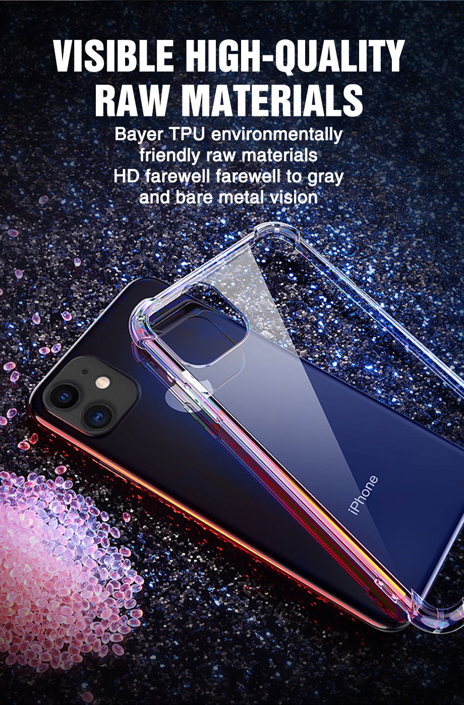 Transparent Shockproof Soft Silicone Case for iPhone 12 Pro