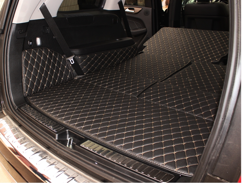 Customized car cargo trunk mats for Mercedes Benz GL 550 X166 7seats waterproof durable boot carpets for GL550 image