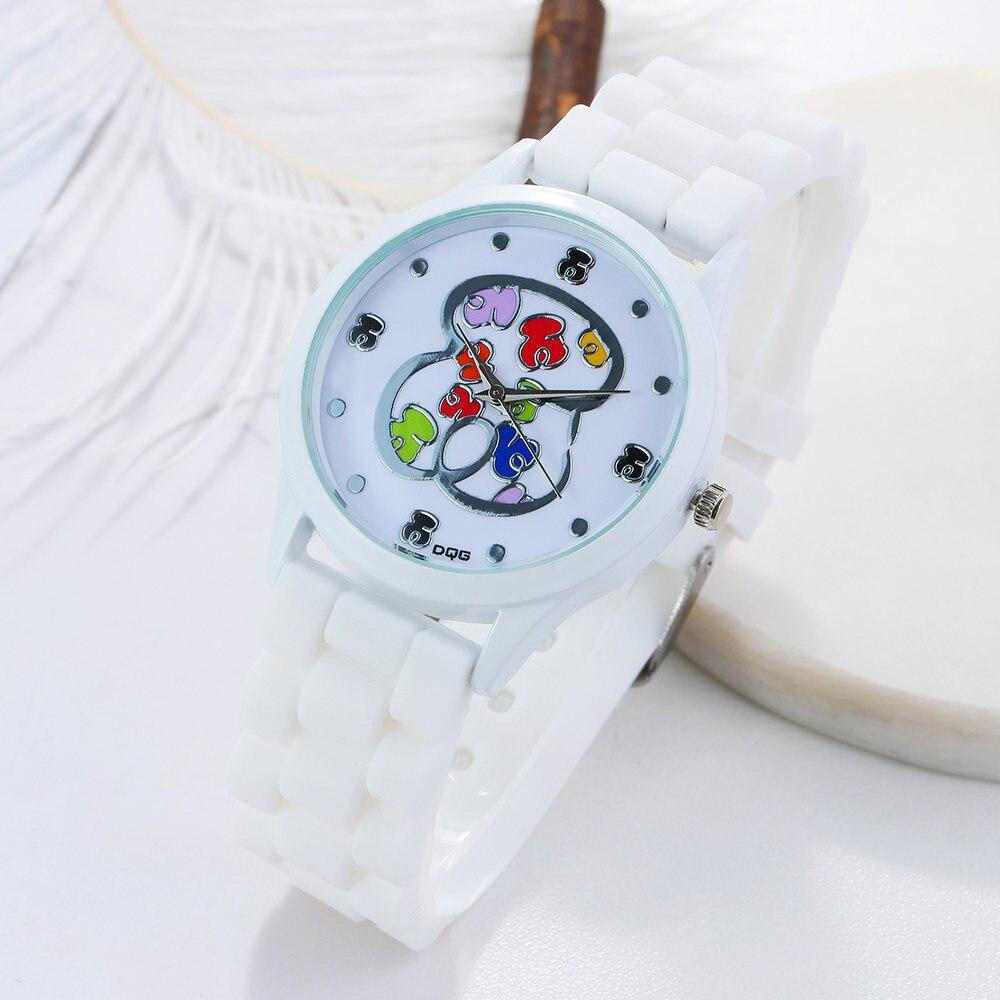 Reloj mujer New Hot Luxury Brand +jelly Silicone Quartz Watch Bear Men Women Watches Fashion Casual Women Watch Chasy Модные повседневные женские часы Chasy