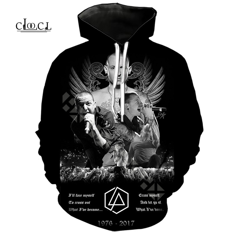 Men Hoodie Hoody Rock Band Linkin Park 3D Printed Women Hooded Sweatshirts Coat Casual Sportswear Street Wear Tracksuit Pullover
