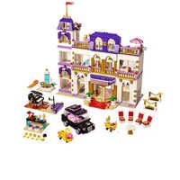 1676Pcs Heartlake Grand Hotel Amici Building Blocks Mattoni Compatibile Legoinglys Delle Ragazze Del Capretto Regalo di Compleanno FAI DA TE Giocattoli per I Bambini