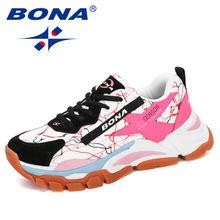 Женские беговые кроссовки bona дышащая Уличная обувь для ходьбы