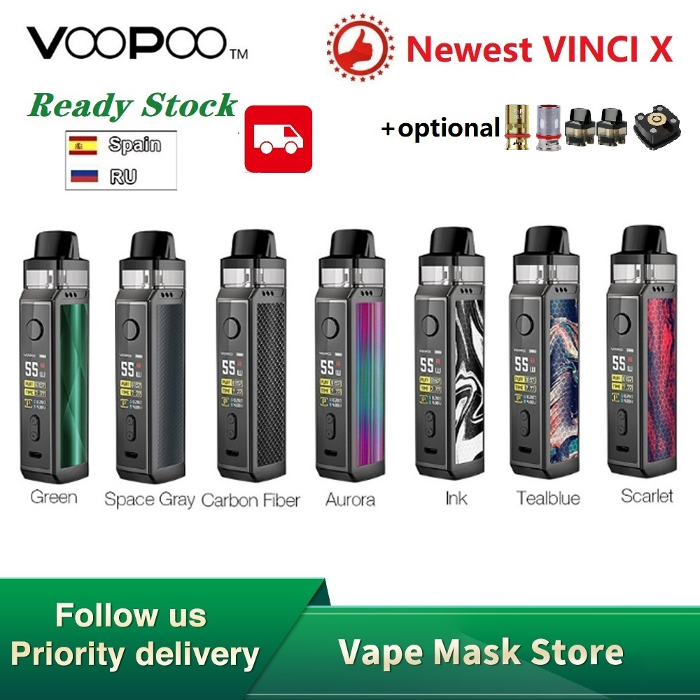 Hot Sale Original VOOPOO VINCI X 70W Pod Kit Dual-coil System 0.96Inch Screen Power By 18650 Battery Vape Kit Vs Vinci Mod Kit