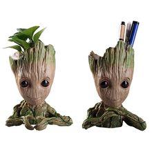 Виниловые Детские кашпо «Грут» ручка горшок держатель растения Цветочный горшок милые фигурки игрушки для детей подарок настольное украшение