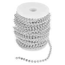 25 metrów rolka 6mm srebrny złota perła pasek z koralikami drutu przycinanie Wedding Decor tanie tanio TOPINCN CN (pochodzenie)