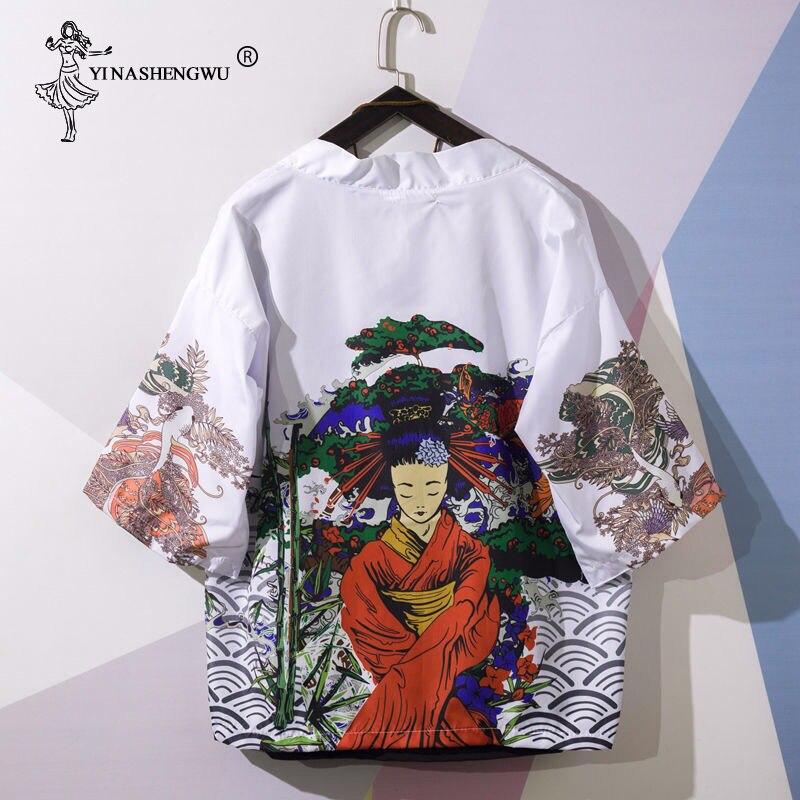 Kimonos Cardigan Men Yukata Women Japanese Kimono Traditional Unisex Harajuku Beach Loose Thin Shirt Asian Japan Cartoon Cosplay
