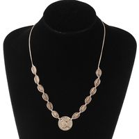 Fashion Alloy Shell Beauty Head Necklace Choker Coin Knotted Braided Bracelet Women Girls Jewelry New