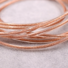 litz 7N single crystal copper wire 7NOCC HIFI cable 105core OD:3.0mm