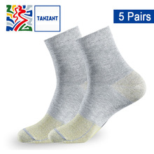 Tanzant Mens Anti-Odor Deodorant No Blister Sports Socks women Antibacterial Athletic Socks Moisture Wicking Ankle Socks 5 Pair цены