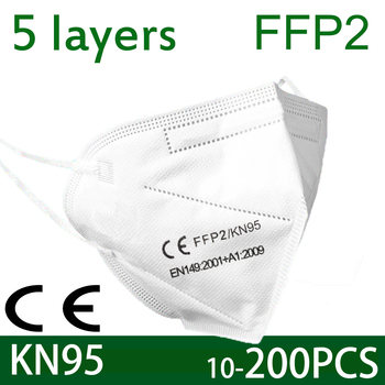 KN95 Mask FFP2 protect Dust Face Mask Filter FFP2MASK KN95MASK Mouth Masks Cover Dust Maske Anti-flu Non-woven Fast shiping