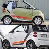 2pcs Car Door Side Stripe Vinyl Film Sticker Decal Decoration For Smart 451 453 fortwo forfour Car Accessories promo