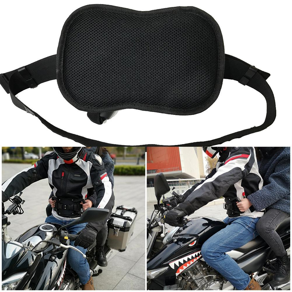 Universal Motorcycle Safety Belt Rear Seat Passenger Grip Grab Handle Non-slip Strap Back Seat Safety Armrest Oxford Cloth Black