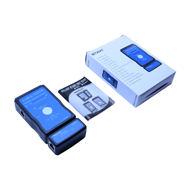 Wholesale M726AT Network cable Tester LAN USB Ethernet Network RJ-45 Cat5 RJ11 cable finder 6
