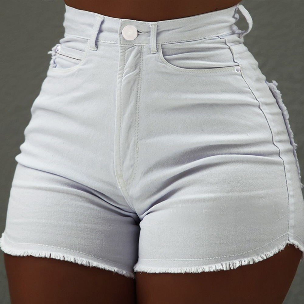 H660843be7fae46618486267190adc179l - High Waist Denim Shorts Sexy Tassel Short Jeans Women Summer Ladies Slim Shorts Short Pants Casual Jeans