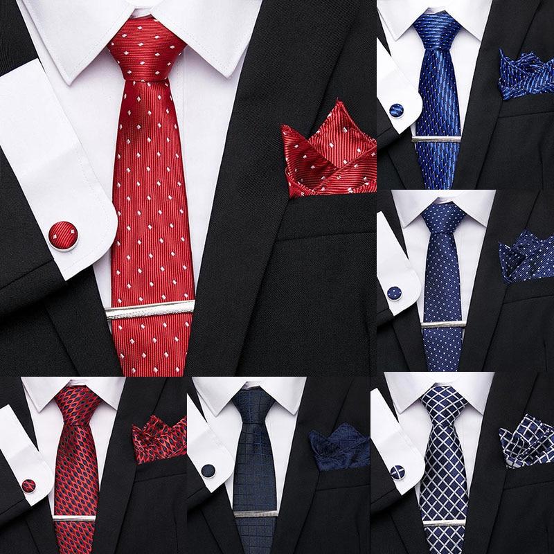 Men/'s Woven Silk Luxury Burgundy Tie with Tie Bar /& Giftbox