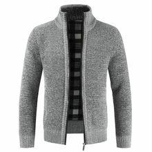 Negizber 2020秋冬新メンズジャケットスリムフィットスタンドカラージッパージャケットの綿厚く暖かいジャケット男性