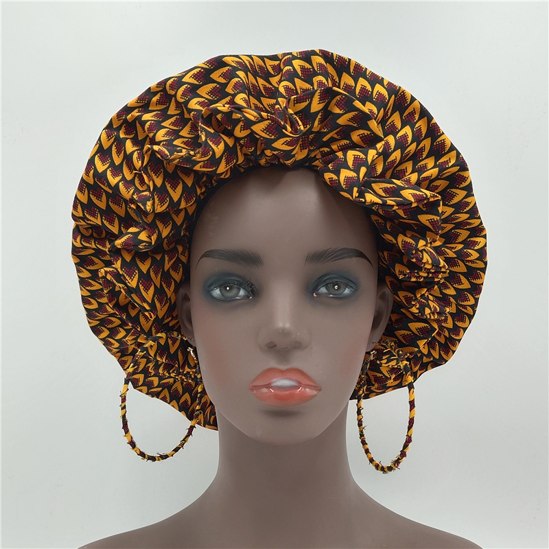 Headwrap For African Women African Turbans Turban Femme Cheveux Chimio With Earrings