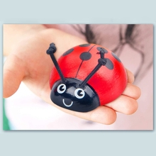 Montessori Counting Ladybug Wooden Educational Toys 0-10 Numbers Count Beetle GXMB