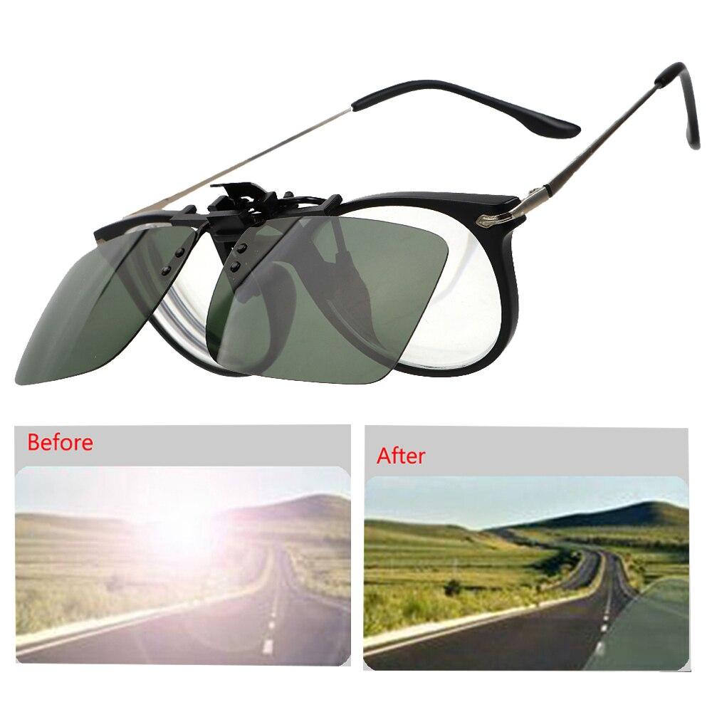 Car Driver GogglesClip On Sunglasses Anti-UVA UVB  Polarized Sun Glasses Interior Accessories Driving Night Vision Lens