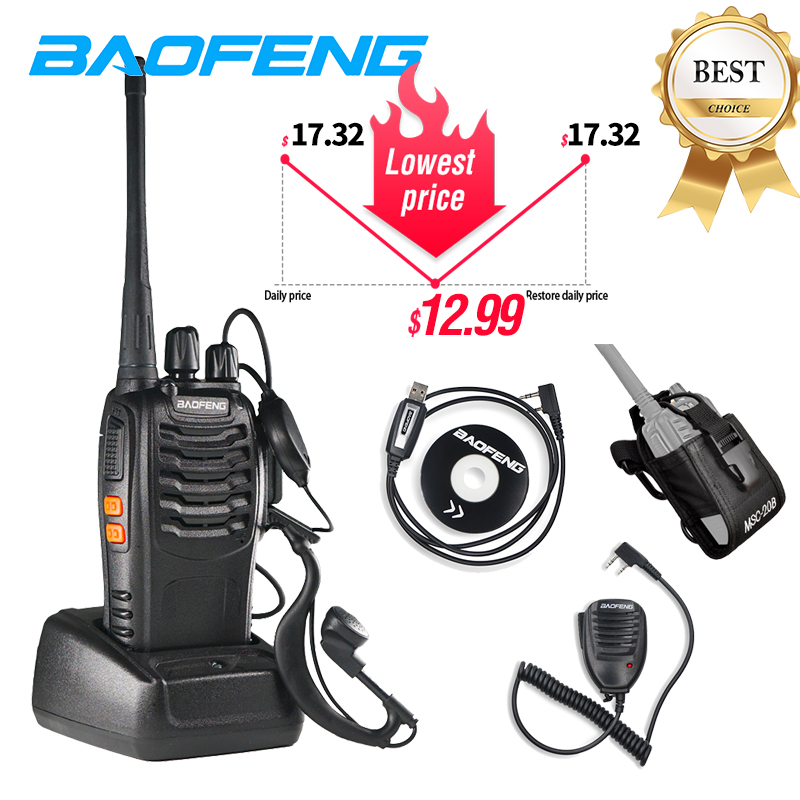 Baofeng BF 888S Walkie Talkie 5W  6km UHF 400-470MHz Two Way Radio Bf888s Portable Cb Ham Radio Comunicador 16CH Transceiver Hot