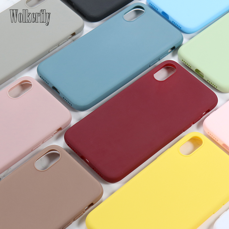 Fashion Soft Silicone Case for Samsung Galaxy A7 2018 A6 A9 A10 A20 A30 A40 A50 A60 A70 2019 S8 S9 S10 Plus S10e Slim Cover Case image