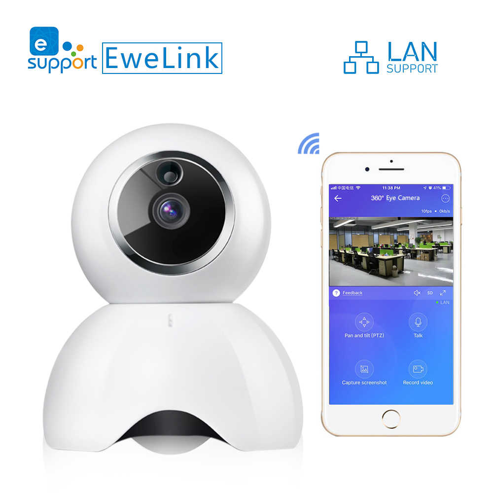 eWeLink IP Camera Smart IOT HD Camera reomotely viewing by mobile phone two-way audio intercom night vision IR LED camera