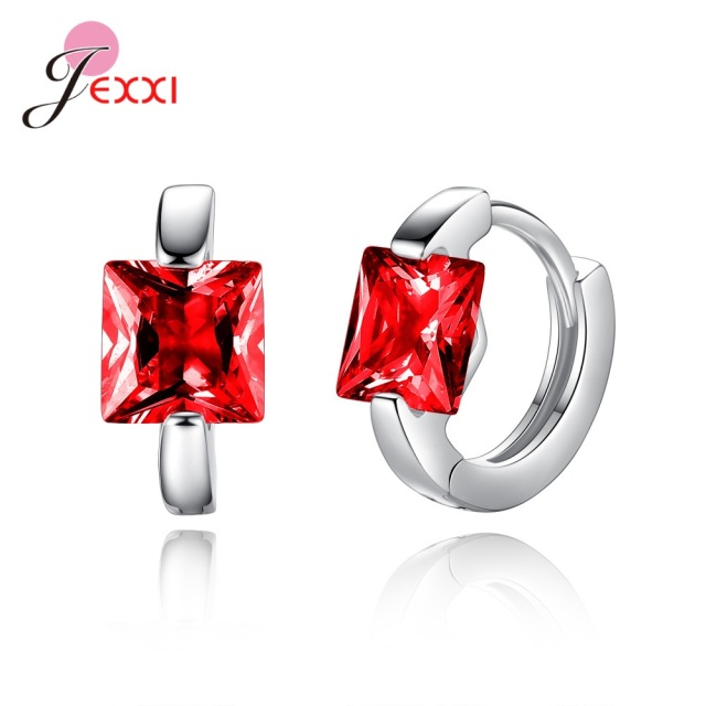 S925 Sterling Silver Boutique Jewelry Mujer Bijoux Red Pink Purple Blue Clear Crystal Cubic Zirconia Hoop.jpg 640x640 - S925 Sterling Silver Boutique Jewelry Mujer Bijoux Red Pink Purple Blue Clear Crystal Cubic Zirconia Hoop Earring Pendientes