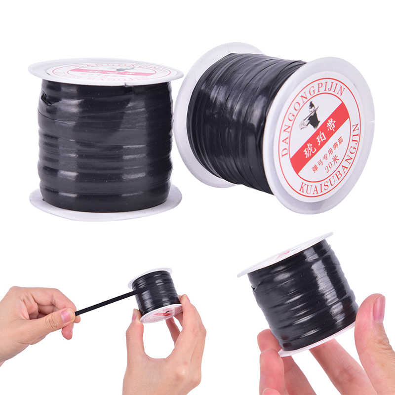 20M élastique bande de corde attaché avec fronde gros caoutchouc Outdoot chasse catapulte bande élastique bande de corde
