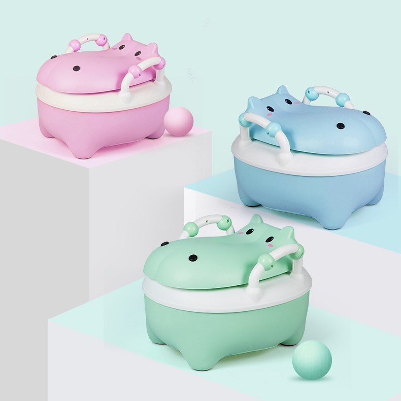 Chamber Pot Sit Toilet Portable Baby Toilet Male Baby 1-3 A Year Of Age Infants Children GIRL'S Household Hippo-