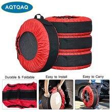 4 шт./компл. Съемная автомобильная запасная крышка колеса покрышки сумка протектор для хранения автомобиля пыленепроницаемые покрышки 30 дю...