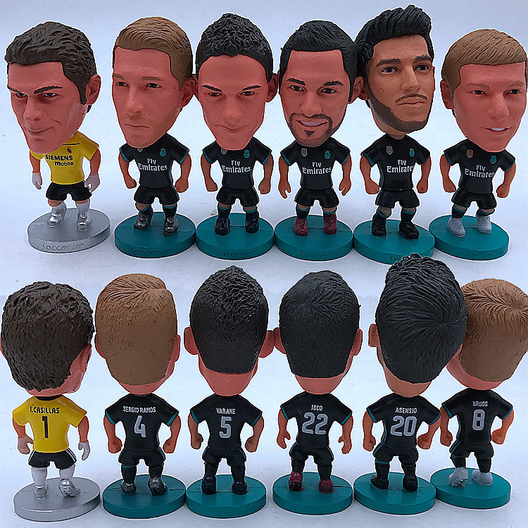 17-18 Season Real Madrid C Robben Benzema Bell Isco Figurine Decoration Away Doll Ball Uniform