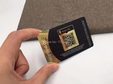 Brushed Metal effect Sliver Engraving VIP Card/ Business Card Custom design and Logo with QR code