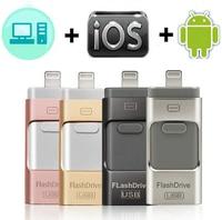 Unidad Flash Usb para iPhone, iPad y teléfono Android, almacenamiento externo de 128GB, Lightning y android, Pendrive 3 en 1 de regalo