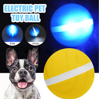 USB Electric LED Rolling Ball Pet Dog Cat Explosive Jumping Ball Rolling Flash Funny Toys Cat Dog Interactive Toy Newest 4