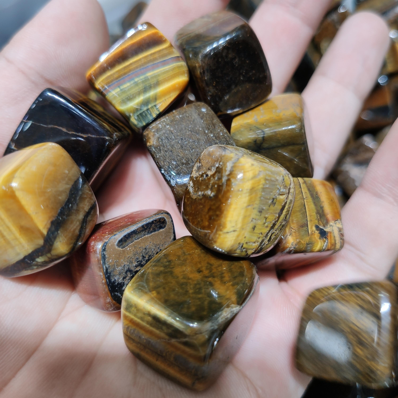 1kg en gros naturel guérison oeil de tigre dégringolé pierre cristal gravier à vendre