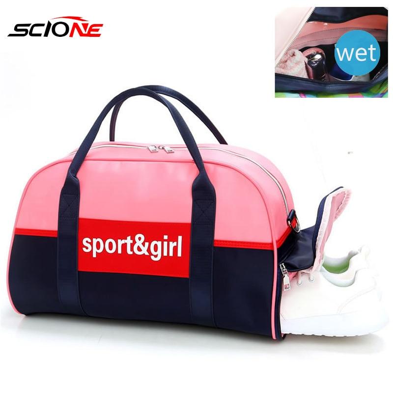 Scione Sports Gym Bag Fitness Bags Dry Wet Tas For Women Men Training Shoulder Sac De Sport Yoga Mat Travel Gymtas Xa998g