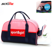 Scione Sports Gym Bag Fitness Bags Dry Wet Tas For Women Men Training Shoulder S