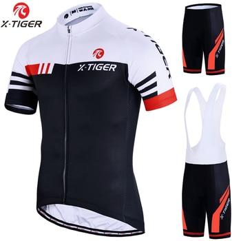 X-tiger conjunto de ciclismo, uniforme de bicicleta de verão, roupas de ciclismo para estrada, mtb, vestuário respirável 1