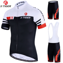 X Tiger Cycling Sets Bike uniform Summer Cycling Jersey Set Road Bicycle Jerseys MTB Bicycle Wear Breathable Cycling Clothing